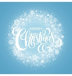 Blue Christmas Snowflake Wreath vector image