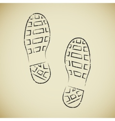 Boots footprints vector image