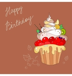 cakes with Happy Birthday vector image vector image
