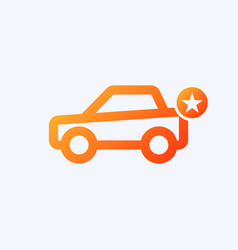 car icon with star sign vector image