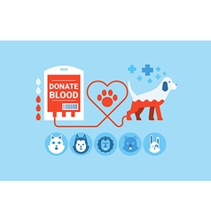 Dog Blood Donation Concept vector image