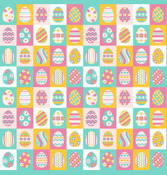 easter eggs for easter holidays design vector image