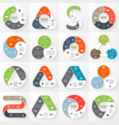 Infographic diagram 3 options parts steps vector
