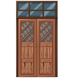 old wooden door in bad condition vector image vector image