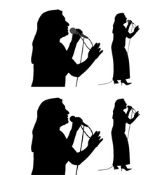 Senior female singer vector image