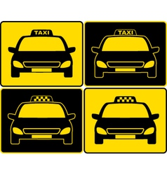 set of taxi cars sign vector image vector image