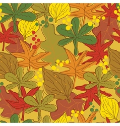 Vintage abstract autumn leaves pattern vector image vector image