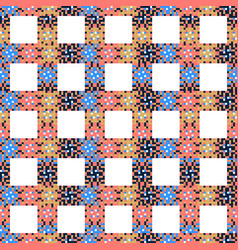abstract multicolored pixels squares textured vector image