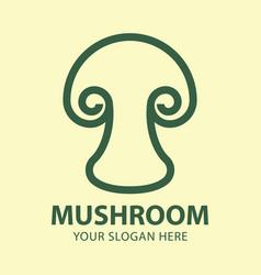 abstract mushroom logo for company vector image