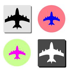 aircraft flat icon vector image