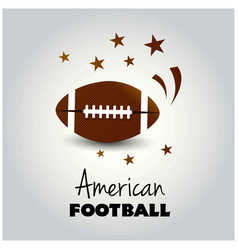 an american football flyer design perfect for vector image
