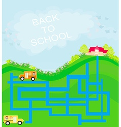 back to school - maze vector image