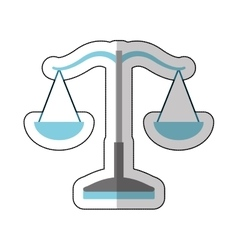 balance justice isolated icon vector image