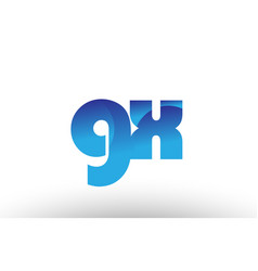 blue gradient gx g x alphabet letter logo vector image vector image