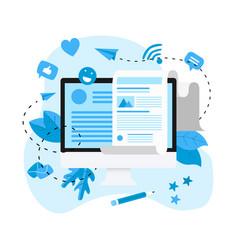 business communication internet blogging post vector image