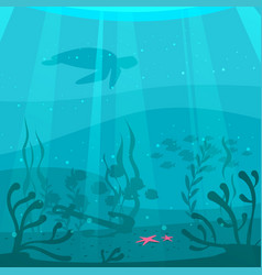 cartoon style underwater background vector image
