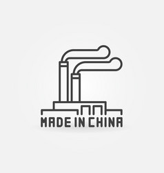 chinese manufacturing icon vector image