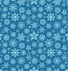 christmas seamless pattern different snowflakes vector image
