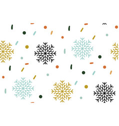 christmas seamless pattern snowflake pattern on vector image