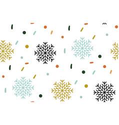 christmas seamless pattern snowflake pattern on vector image