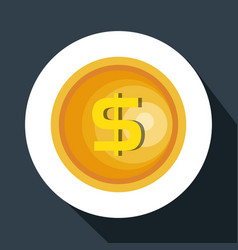 Coins money pay icon vector