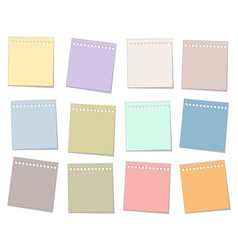 Colorful paper note set vector