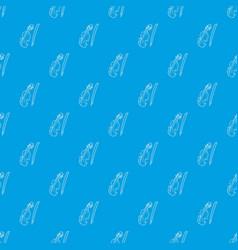 contrabass pattern seamless blue vector image