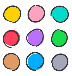 creative hand drawn web buttons vector image