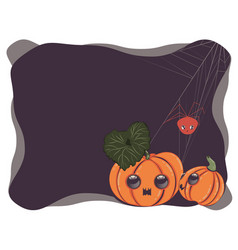 Cute pumpkin banner vector
