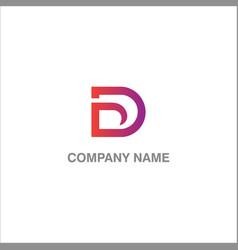 D initial logo vector