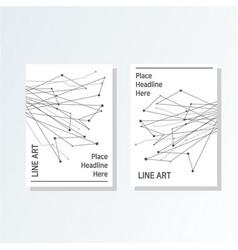 design cover poster a4 catalog book brochure vector image