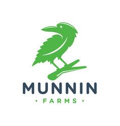 Eagle logo design and hemp leaf vector