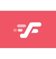 Fast line logo F monogram icon vector image