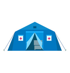 field hospital icon flat style vector image