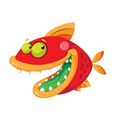 Fish crazy vector