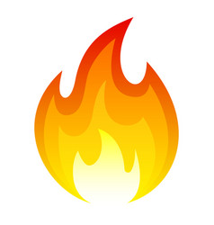flame red icon bright blazing decoration and glow vector image