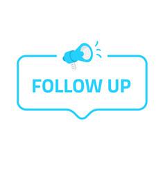 follow up badge icon logo concept for social vector image