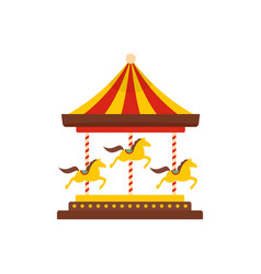 horse carousel icon flat style vector image