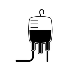 isolated blood bag icon vector image