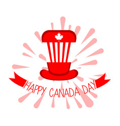 isolated party hat canada day vector image