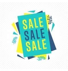 Isolated sale badge label or sticker vector image