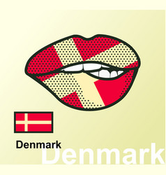Lips with national flag vector