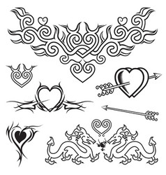 love tattoo vector image