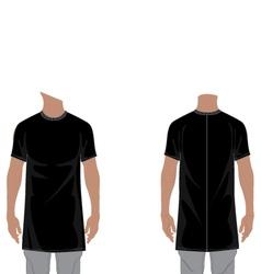 MENS LONGLINE T-SHIRT 2D FLAT vector image