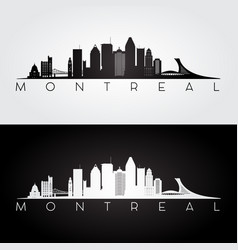 Montreal skyline silhouette vector