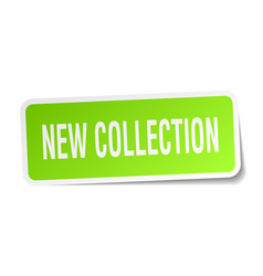 New collection square sticker on white vector