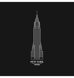 New York Skyscraper Icon 1 vector