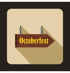 Oktoberfest signboard icon flat style vector