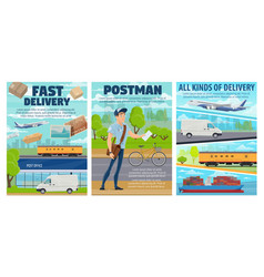 Post office mail delivery transport postman vector