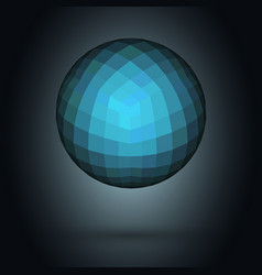 realistic 3d chrome ball isolated on white vector image